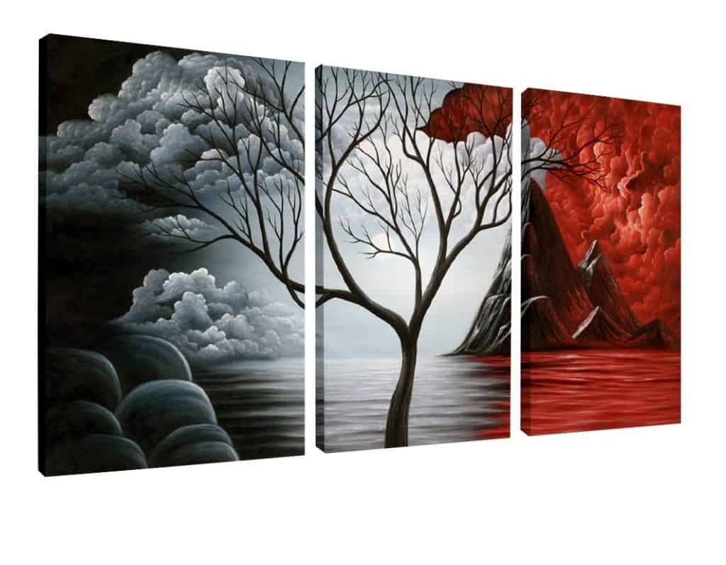 Wieco Art The Cloud Tree Wall Art Oil Painting